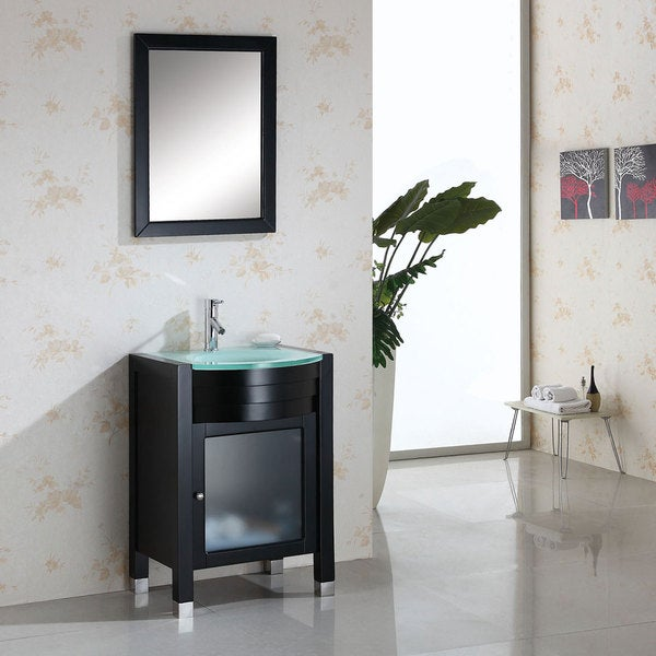 Virtu USA Ava 24 Inch Single Sink Bathroom Vanity Set