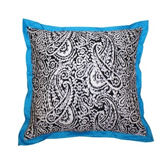 Lady Paisley Blue Decorative Pillow (India)