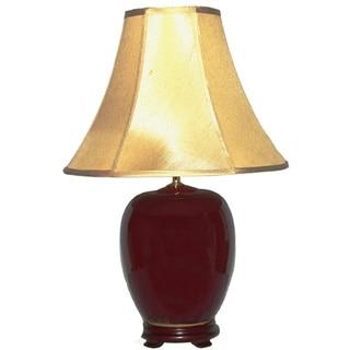 Crown Lighting 1-light Oxblood Porcelain Table Lamp