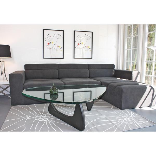 Decenni Custom Furniture 'Tech' Modular Charcoal Grey Sofa