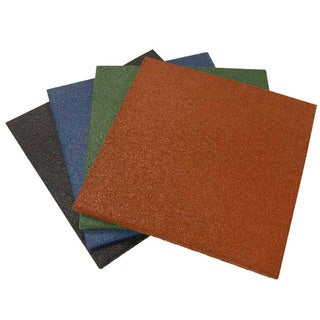 Rubber-Cal Eco-Sport 3/4-inch Interlocking Rubber Tiles - 3/4 x 20 x 20-inch Rubber Tile - 4 Colors - 5 Pack, 14 Sqr/Ft Coverage