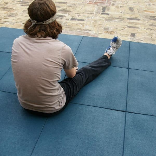 4 Inch Interlocking Rubber Tiles