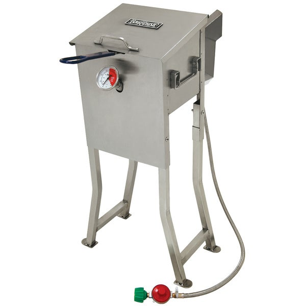 Shop Bayou Classic Stainless Steel 2 5 Gallon Fryer Free Shipping