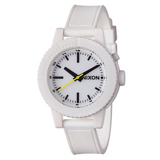 Nixon Women's 'The Gogo' White Polycarbonate Night Light Watch