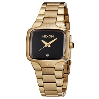 Nixon Women's 'The Small Player' Goldplated Watch