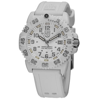 Luminox Women's A.7057.WO 'Colormark' White Dial White
