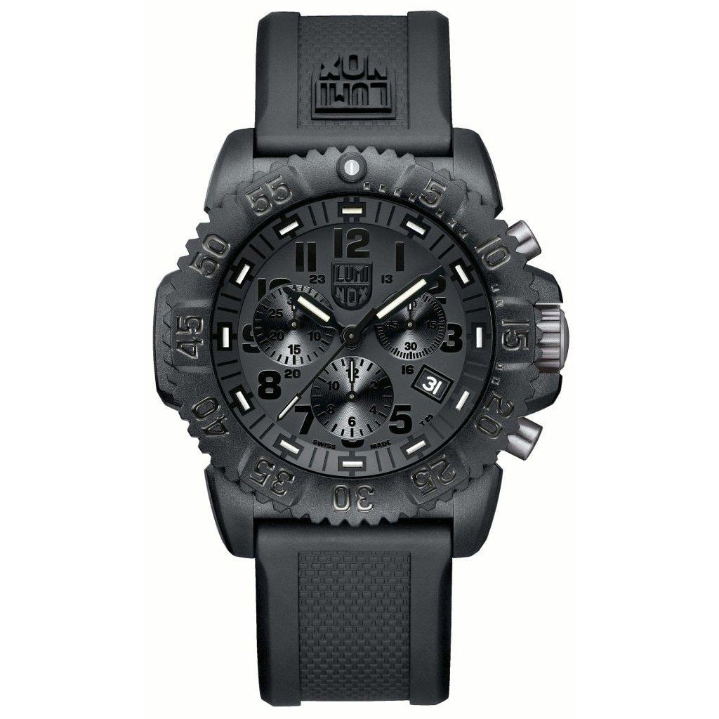 Luminox Men's Navy Seal Chronograph Watch (Black), Size O...
