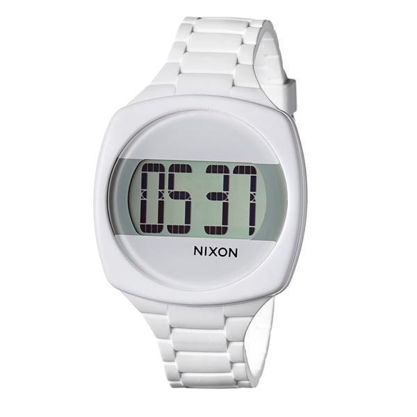 Shop Nixon Women's 'The Dash' White Digital Watch - Free ...