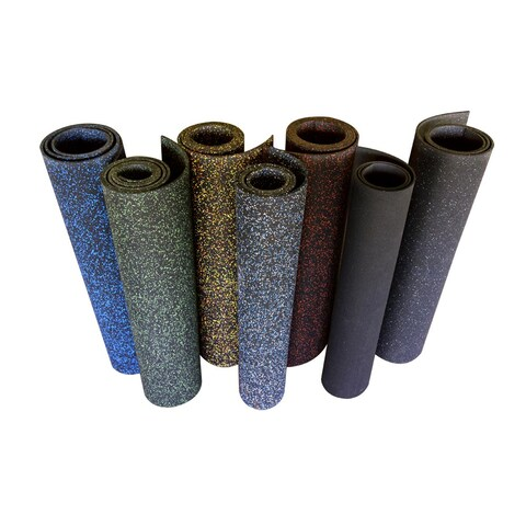 Rubber-Cal Elephant Bark Rubber Flooring Rolls - 3/8-inch x 4ft Wide Rubber Runners - Available in 6 Colors & 13 Lengths-US Made