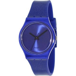 Swatch Women's Originals GS144 Blue Rubber Swiss Quartz Watch with Blue Dial