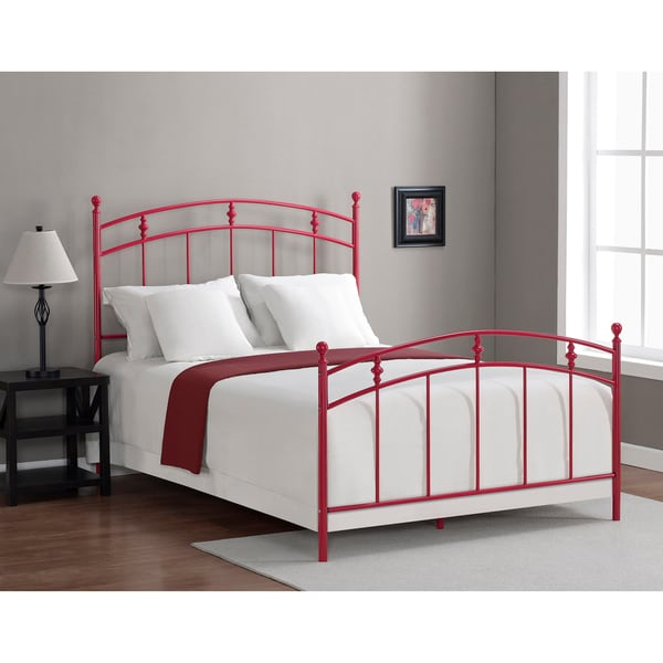 Pogo Full Size Candy Apple Red Bed Frame Free Shipping
