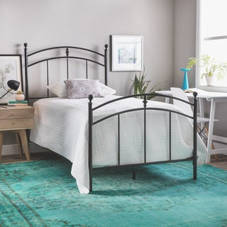 Pogo Black Licorice Finish Twin Size Bed Frame