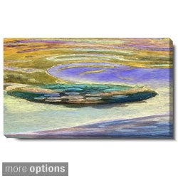 Studio Works Modern 'Yellow Lagoon' Gallery Wrapped Canvas