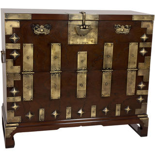 Handmade Korean Bandaji Antique Style Blanket Chest (Korea)