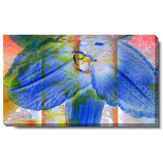 Studio Works Modern 'Mist Flower - Blue' Gallery Wrapped Canvas
