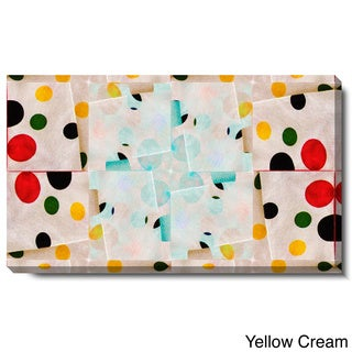 Studio Works Modern 'Origami Star - Yellow Cream' Gallery Wrapped Canvas