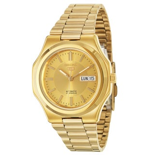 Seiko Men's '5 Sports Automatic' Stainless Steel and Goldplated Quartz Watch