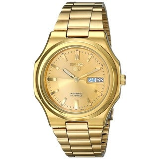 Seiko Men's SNKK52 'Seiko 5 Automatic' Gold-plated Date Watch
