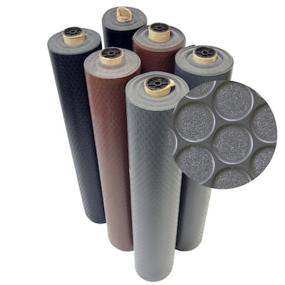 Rubber-Cal Coin-Grip Rubber Flooring Rolls - 2mm thick x 4ft. Wide Rubber Rolls - 48 x 156