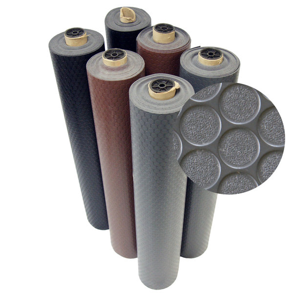 Rubber-Cal Coin-Grip Rubber Flooring Rolls - 2mm thick x 4ft. Wide Rubber Rolls