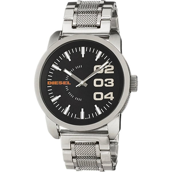 Diesel Men's DZ1370 Silver Stainless-Steel Quartz Watch with Black Dial. Opens flyout.