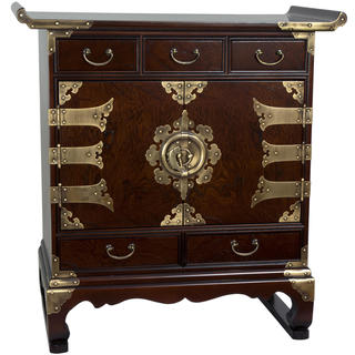 Handmade Korean Antique Style 5 Drawer End Table Cabinet (Korea)