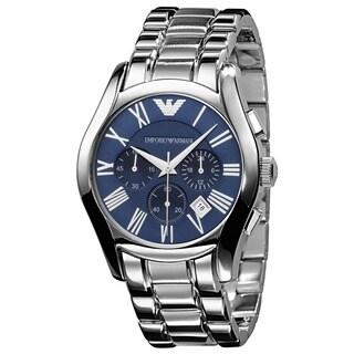 Armani Men's Classic Blue Dial Chronograph Watch