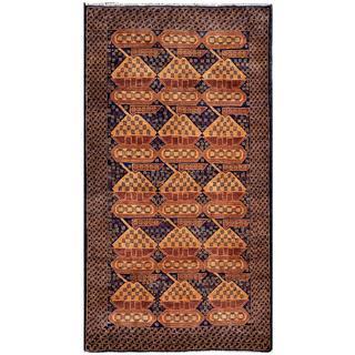 Handmade Herat Oriental Afghan Tribal Wool War Rug - 3'6 x 6'4 (Afghanistan)