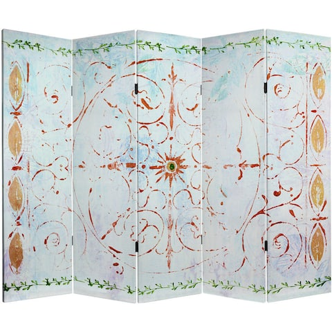 Handmade 5' Canvas Winter's Peace Room Divider