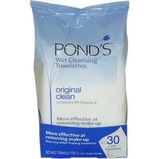 Pond's Original Clean Wet Cleansing Towelettes (Pack of 30)
