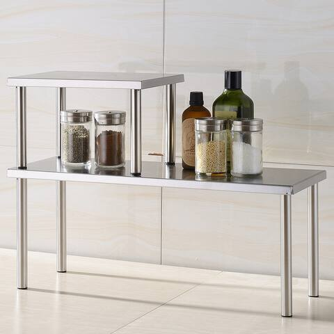 Cook N Home 2-tier Stainless Steel Counter Storage Shelf