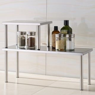 Cook N Home 2 Tier Counter Storage Shelf, Stainless Steel