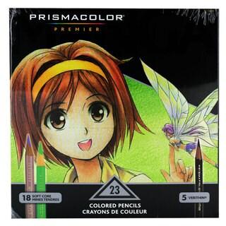 Prismacolor Premier Manga Colored Pencil Set Soft-Core/Verithin 23/Pack (1774800)