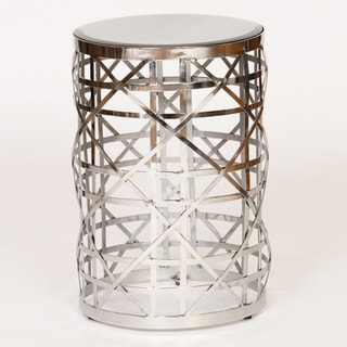 Nickel Drum Accent Table