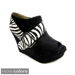 Luv's Women's Zebra 'Andrea' Wedge Heels
