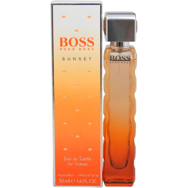 Shop Hugo Boss Orange Sunset Womens 16 Ounce Eau De Toilette Spray