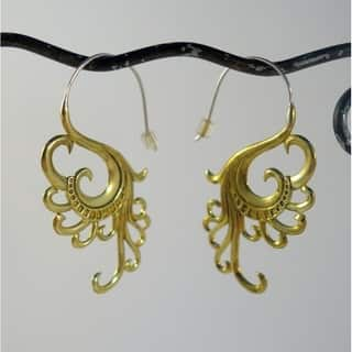'Swan Dreams' Earrings by Spirit Tribal Fusion|https://ak1.ostkcdn.com/images/products/8239982/P15568128.jpg?impolicy=medium