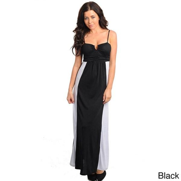 ec70b06efb Shop Stanzino Women's Colorblock Empire Cut Tank Maxi Dress - Free ...