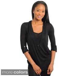 Stanzino Women's Layer Effect 3/4 Sleeve Top