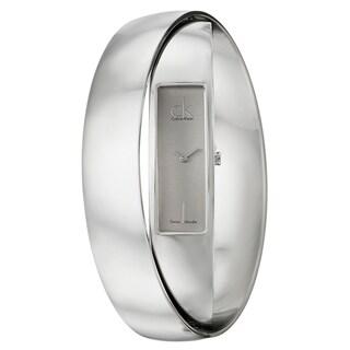Calvin Klein Women's 'Element' Silvertone Stainless Steel Swiss Quartz Watch