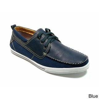 Polar Fox Men's Square Toe Lace-up Boat Shoes