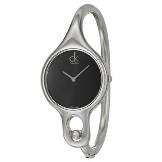Calvin Klein Women's 'Air' Black Dial Stainless Steel Swiss Quartz Watch