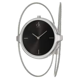 Calvin Klein Women's 'Agile' Black Dial Stainless Steel Swiss Quartz Watch|https://ak1.ostkcdn.com/images/products/8240089/8240089/Calvin-Klein-Womens-Agile-Black-Dial-Stainless-Steel-Swiss-Quartz-Watch-P15568213.jpg?impolicy=medium
