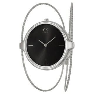 Calvin Klein Women's 'Agile' Black Dial Stainless Steel Swiss Quartz Watch