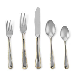 Golden Ribbon Edge 5-piece Flatware Place Setting