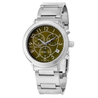 Calvin Klein Jeans Men's 'Continual' Green Dial Stainless Steel Chronograph Watch