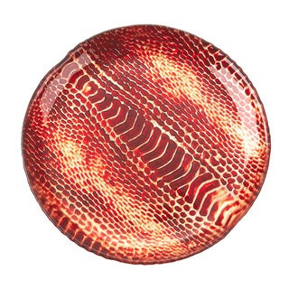 Red Pomegranate Gilded Tableware Snakeskin Plate