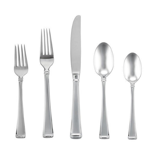 Gorham Column Frosted 5 Piece Flatware Place Setting