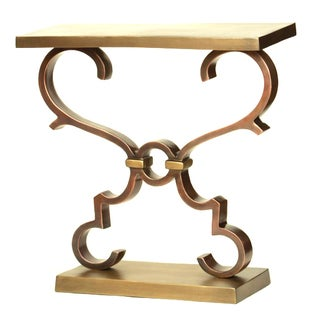 Rectangular Accent Table with Scroll Design
