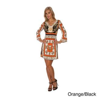 White Mark 'Florence' Mix Print Dress